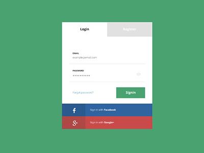 Flat Login Page Design by Freebie Magz - Dribbble