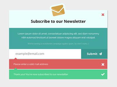 Newsletter Subscription Form Mockup