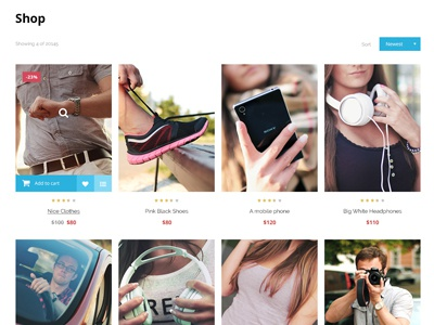 Online Stores Product List Mockup