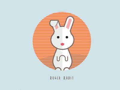 The Cute Bunny Rabbit Vector