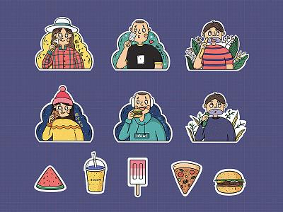 Travel maiden sticker sticker
