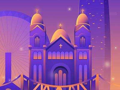 Church in Tianjin illustration
