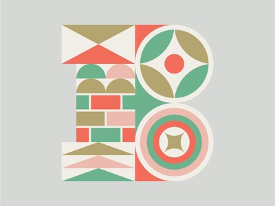 'B' Is For Baby icon design illustration b shapes letters lettering