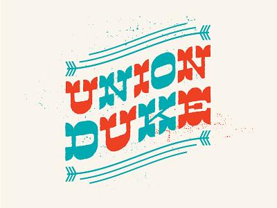 Union Duke Logo bassdrum music band design typography illustration logo icon poster gigposter