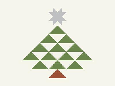 Christmas Tree icon illustration design holiday christmas star tree christmas tree