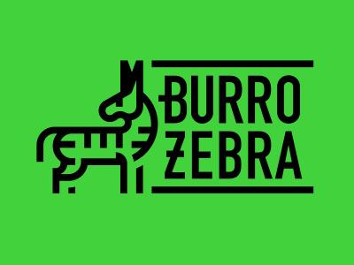 Burro Zebra (Tijuana Donkey/Zebra-Donkey) branding animal animal logo logo sketch process burrito burro tijuana zonkey donkey