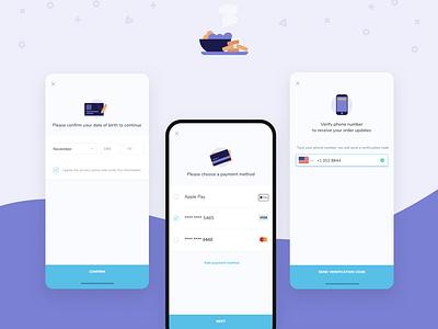 KDS - App - Ordering food 🍲 foodie food buying ordering mobile app kds ux ui design branding mobile illustration