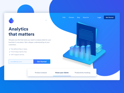 Analytics Landing Site
