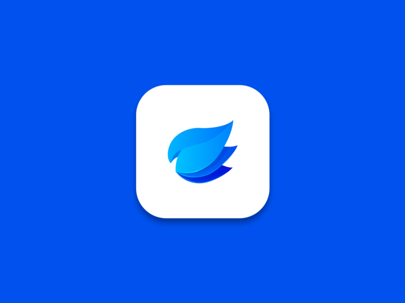 Apple app icon gradient plants apple icon app branding vector logo design illustration