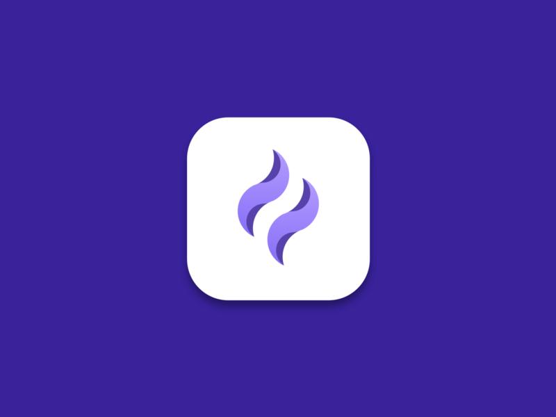 Apple app icon minimal icon branding vector logo app mobile illustration