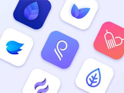 App icons and logos :) icon vector branding logo native ui colors mobile app illustration