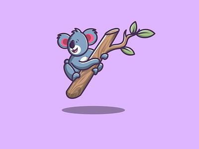 Cute Koala branding vector logo illustration icon design app