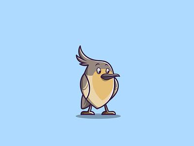 Cute Bird branding app vector logo illustration icon design