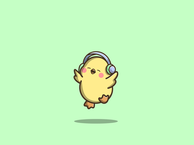 Cute Duck mascot duck cute cartoon graphic design vector logo illustration icon design
