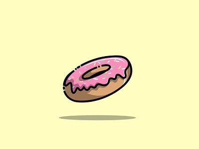 donuts donuts food mascot cartoon graphic design vector logo illustration icon design