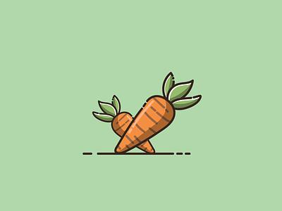 carrot cute carrot mascot cartoon graphic design vector logo illustration icon design