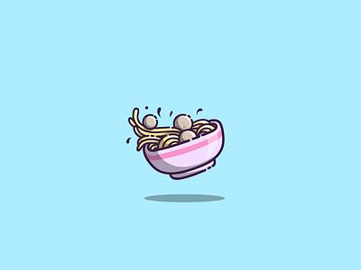 noodles branding logo design mascot cartoon graphic design vector logo illustration icon design