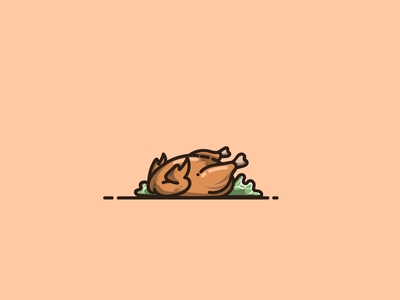roast chicken cute animal logo design ux ui branding mascot roast chicken cartoon graphic design vector logo illustration icon design
