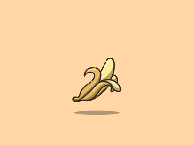 Banana fruid food banana mascot cartoon graphic design vector logo illustration icon design