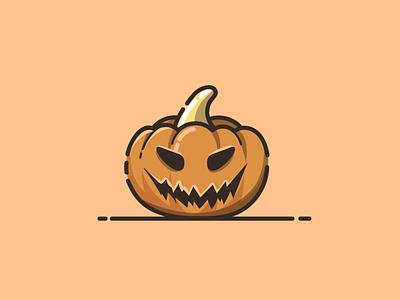 pumpkin halloween mascot pumpkin halloween pumpkin brand branding cartoon graphic design vector logo illustration icon design