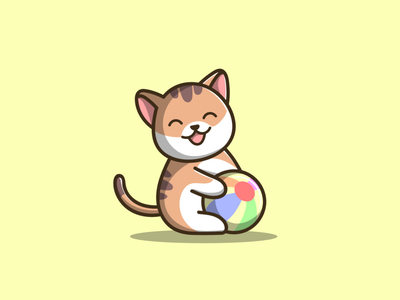Cute Cat cat cute macot branding cartoon graphic design vector logo illustration icon design