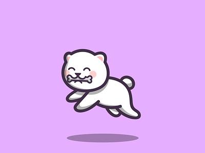 Cute Dog dog cute mascot cartoon graphic design vector logo illustration icon design