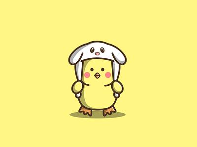Cute Duck mascot branding cartoon graphic design vector logo illustration icon design