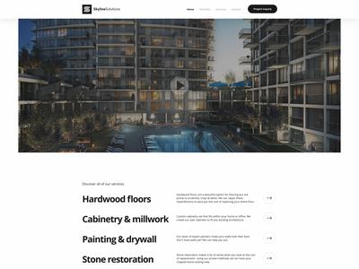 Skyline Solutions - Contractor Website ux ui typography websitedesign contractor webdesign wordpress