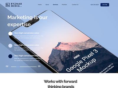 Ryznar Media typography ui ux webdesign design wordpress websitedesign