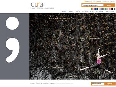 Cura; Yoga Clothing Store design wordpress websitedesign webdesign ui ux typography