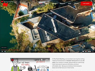 ProTorch Roofing design wordpress websitedesign ui ux webdesign typography