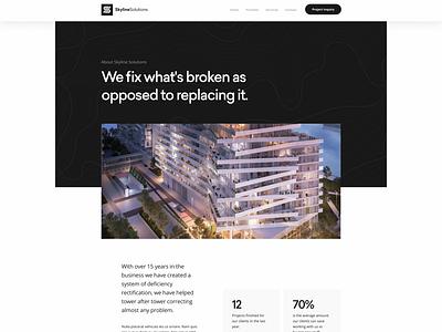 Skyline Solutions WordPress Theme design websitedesign wordpress ui ux webdesign