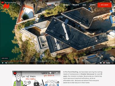 Roofing Company's Website  - ProTorch Roofing branding design websitedesign ux webdesign ui