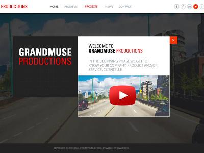 GRANDMUSE PRODUCTIONS wordpress branding illustration typography design websitedesign webdesign ux