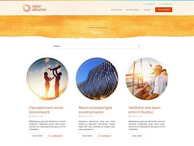 Solar Alliance userexperience typography wordpress design websitedesign webdesign ux
