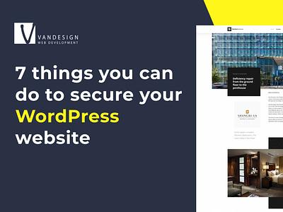 Secure WordPress Tips design website opensource webdevelopment wp wordpress websitedesign ux webdesign