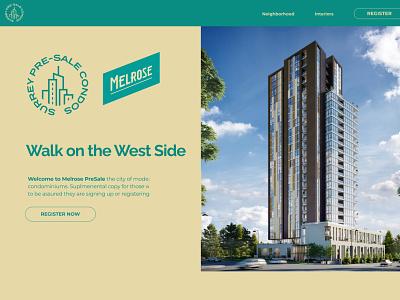 Melrose Pre-Sale ux webflow design websitedesign webdesign