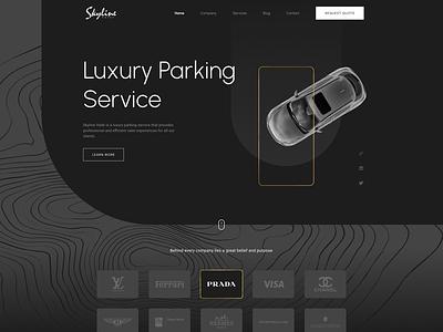 Skyline Valet Inc. Website corporatewebsite website wordpress websitedesign design ux webdesign