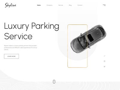 Skyline Valet Website - Light Version branding wordpress design websitedesign webdesign ux
