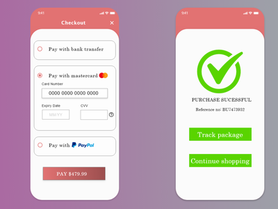 Card checkout page part 2 mobile typography design graphic design dailyui