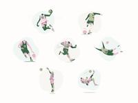 Body & Mind calendar design character illustrator headless football vector vectors illustration illustration art basketball player basketball