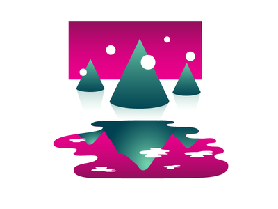 Views shapes vector sci-fi reflection puddle geometric