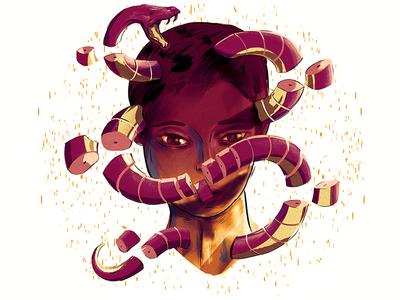 Paradise Lost boy lost paradise illustration photoshop snake