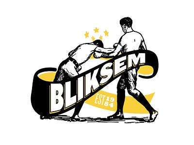 Bliksem gain pain stars boxing logo