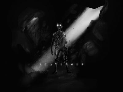 Scavenger - Concept Art science fiction. future dystopian dark game concept art illustration
