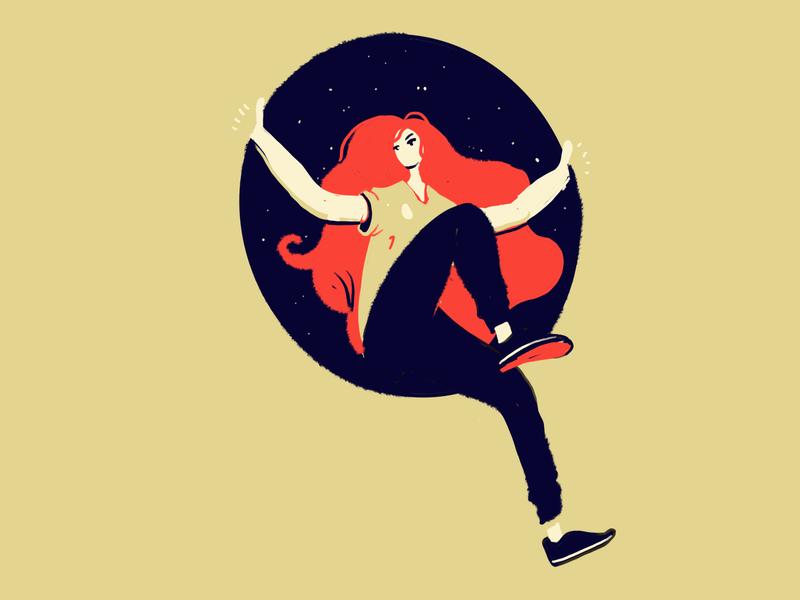 Exit design character procreate art illustration