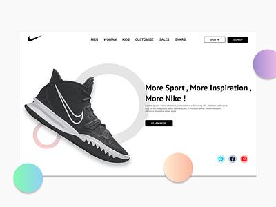 NIKE Web Redesign Concept logo animation motion graphics 3d branding graphic design ui