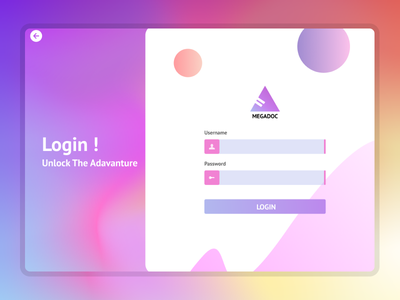Login UI - Glassmorphism vector illustration design app 3d ui logo graphic design branding animation