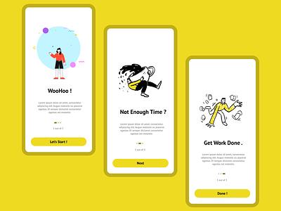 Onboarding - UI / UX - illustration vector illustration design app 3d ui logo graphic design branding animation
