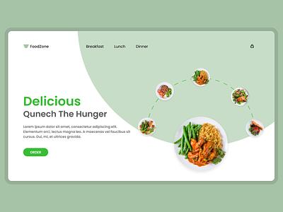 FoodZone - Website - UI / UX vector illustration design app 3d ui logo graphic design branding animation
